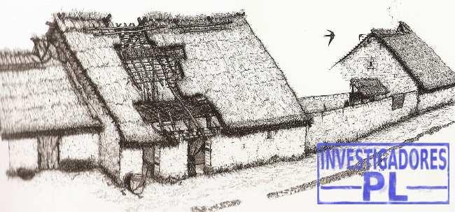 dibujo casas del poblado