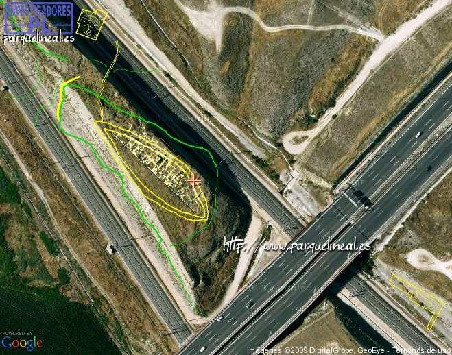 plano superior del complejo arqueológico gavia
