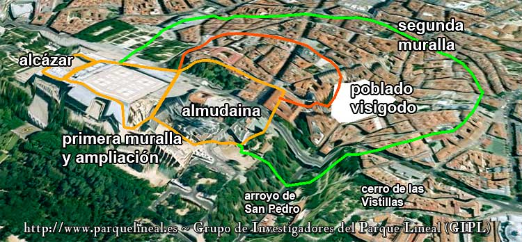 mapa muralla arabe madrid