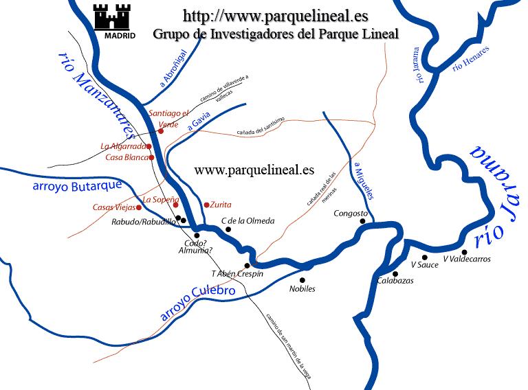 mapa poblaciones medievales madrid
