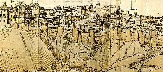 dibujo muralla árabe de MAdrid
