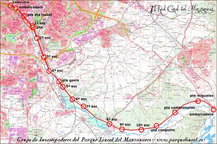 mapa real canal del manzanares