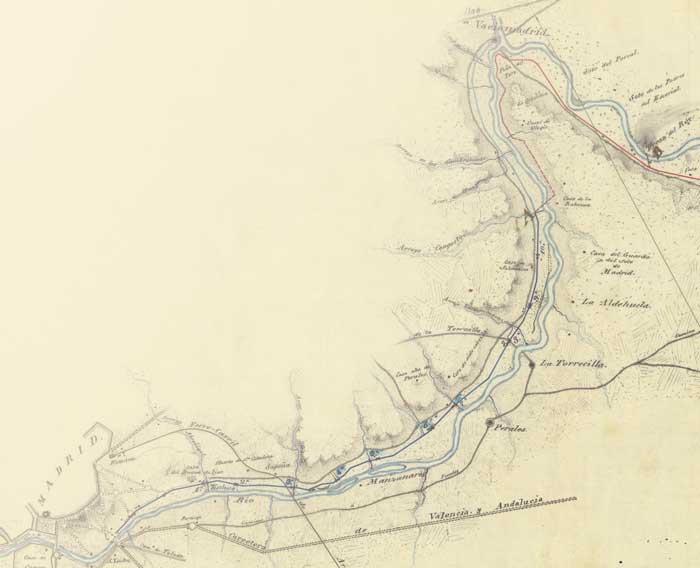 Plano del Real Canal del Manzanares
