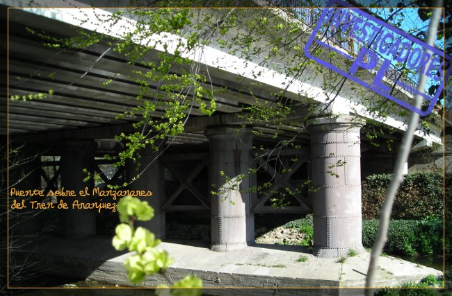 puente sobre el manzanares del tren de aranjuez