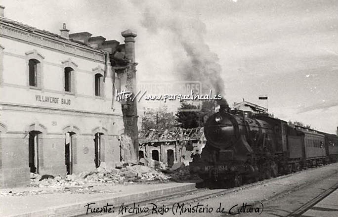 Estación de Villaverde Bajo durante la Guerra Civil