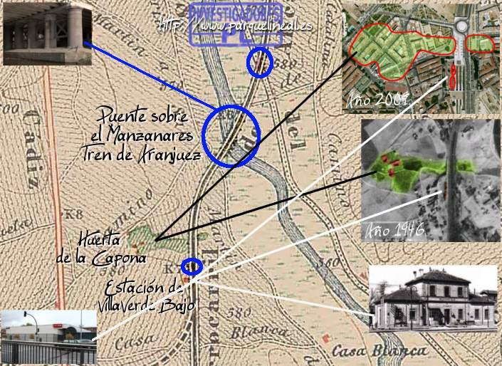 mapa villaverde tren aranjuez siglo XIX
