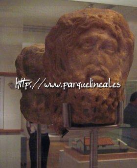 cabeza en alabastro de silvano