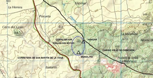 Mapa Cerro Mayor VsM La Marañosa