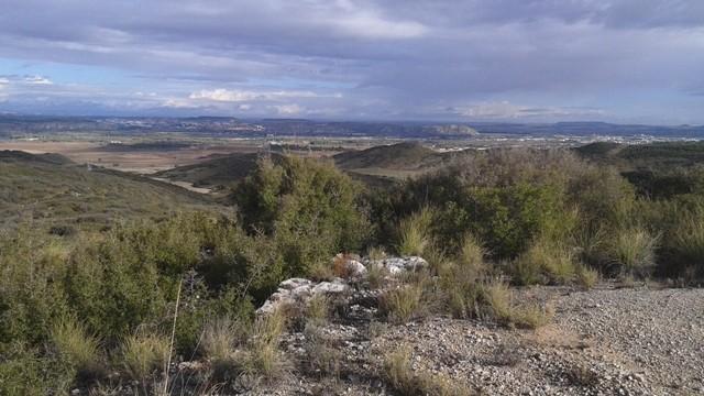Perspectiva desde el observatorio del Col.Barrón en la Casa del Guarda del Monte de Pajares.