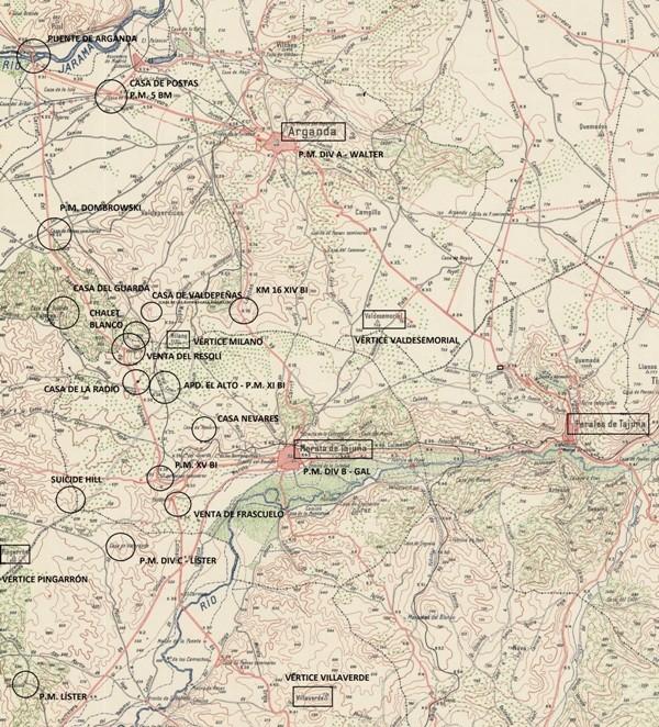 Toponimia de la batalla. Hitos geográficos.