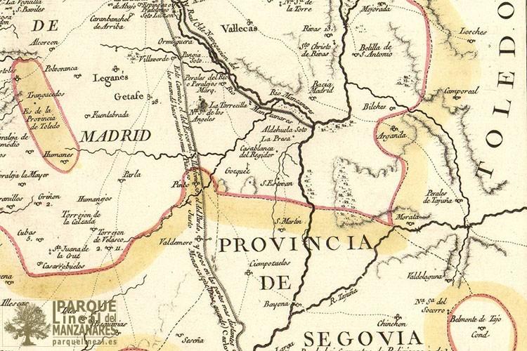 1773 Mapa De La Provincia De Madrid Segovia Blog Del Gipl