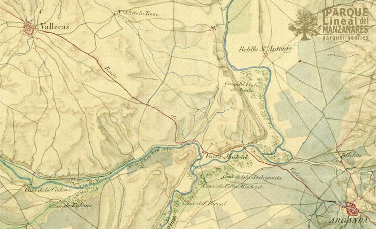 mapa 1809 camino de valencia