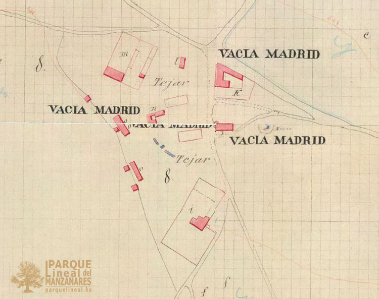 Plano catastral Vaciamadrid 1860
