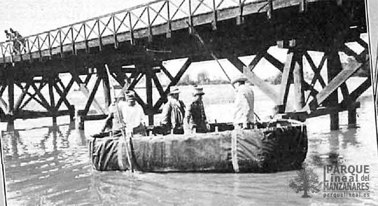 puente de madera sobre el jarama 1905