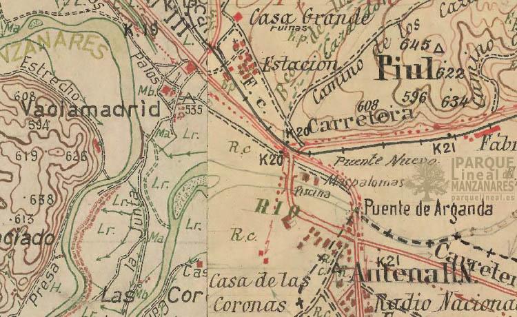 minuta cartográfica 1915-1960 vaciamadrid