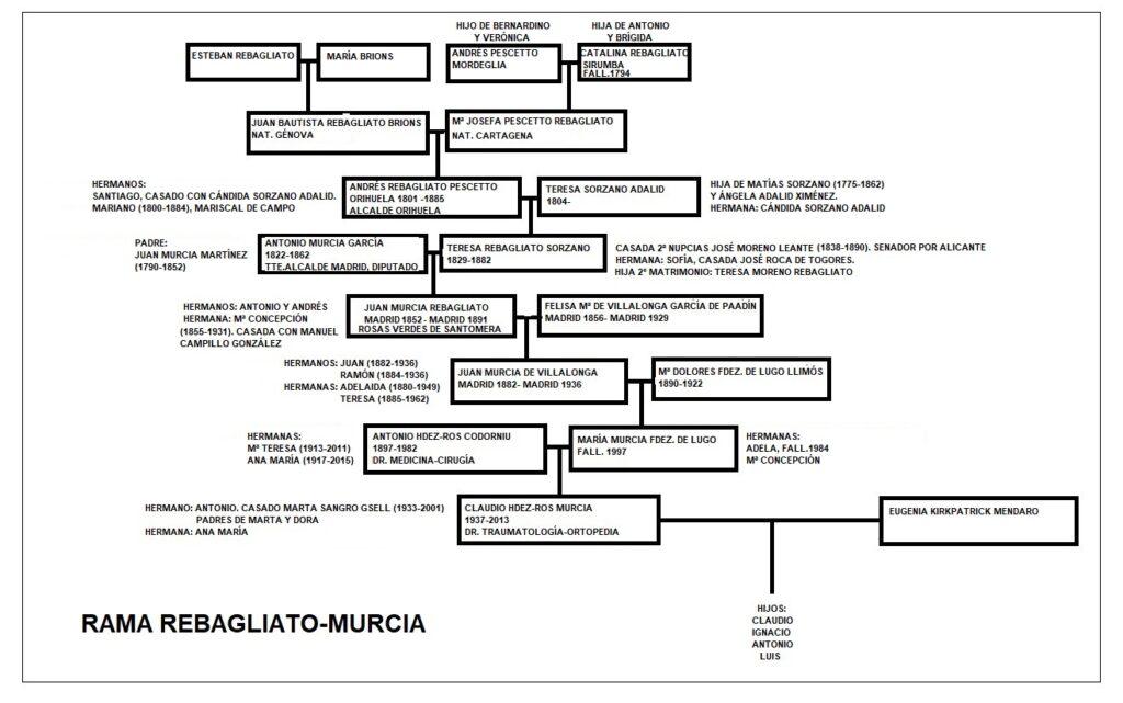 rama del árbol genealógico familiar